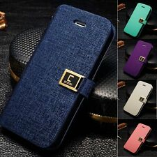 New Flip PU Leather Wallet Card Holder Stand Case Cover Shell for iPhone 4 5s SE