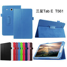 Folding Stand Leather Case Cover Stylus Holder For Samsung Galaxy Tab E 9.6 T560
