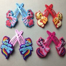 New Girls My Little Pony HAIR CLIPS APPLE JACK PINKIE PIE Twilight Rainbow Dash