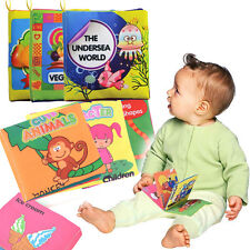 1x New Kid Baby Intelligence development Cloth Bed Cognize Book Educational Toy