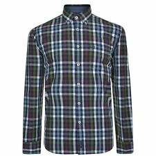 MARC O POLO Mens Soft Peached Check Shirt Long Sleeve Buttons Cotton Casual Top