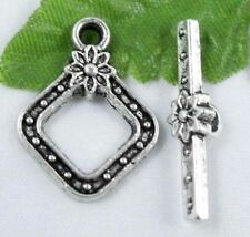 Wholesale 16/54 Sets Tibetan Silver Toggle Clasps 21x16mm (Lead-free)