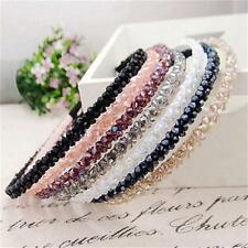 Women Girl Fashion Bead Crystal Hair Hoop Headband Hair Band Head Piece Jewelry