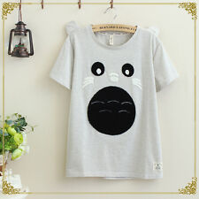 Japanese Sweet Mori Girl Preppy Style Short Sleeve Loose Cute Print T-Shirt Tops