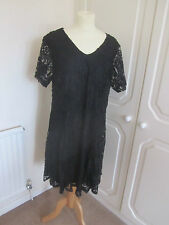 BNWT SOLD OUT EVANS BLACK LACE V NECK SHIFT DRESS MANY SIZES RRP 50.00
