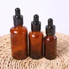 Amber Round Glass Liquid Reagent Bottle With Dropper Drop Essential Oil JNEG
