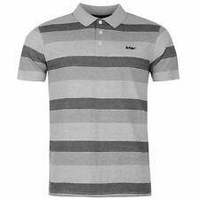 Lee Cooper Mens Stripe Polo Shirt Short Sleeve Smart Casual Style Tee Top
