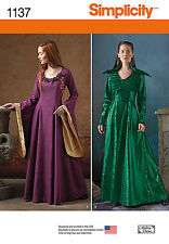 NEW SIMPLICITY MELISANDRE CERSEI GAME OF THRONES SEWING PATTERN 1137 Dress GOWN