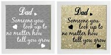 Vinyl Sticker DIY Fathers Day Gift Fits 20x20cm frame Dad Someone you look up to