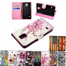 Stand Flip Wallet Leather Cover Case For Samsung Galaxy S5 S4 S3 Mini Note 3 2