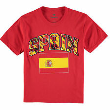 Spain Male Youth T-Shirt - Red - Country Flags