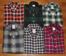 NEW NWT Brooks Brothers Mens Long Sleeve Flannel Buttondown Shirt Original Polo