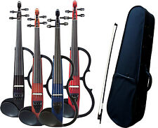 Yamaha SV130 Silent Violin Bundle with Electric Violin, Bow, & Case