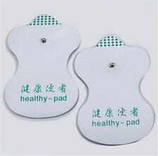 White Electrode Pads For Tens Acupuncture Digital Therapy Machine Massager Chic