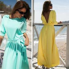 Women's Summer Long Maxi Evening Party Dress Backless Cocktail Prom Gown Dresses