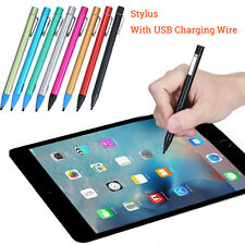 Screen Touch Stylus Pen With USB Charging Wire Fr iPad Pro/2/3/4/mini/Air Stylus