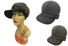 New Ladies VTG 1920s 30s Gatsby Tweed-style Herringbone Baker boy Cap Hat