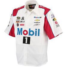 Tony Stewart JH Design Mobil Official Pit Shirt - White/Red - NASCAR