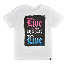 Hurley Big Boys S/S White Live and Let Live Top Size 10/12 14/16 18/20 $18