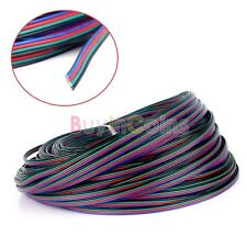 5/10/100M 2M Extension Cable 4-Pin Cord Wire for RGB 3528 5050 LED Strip Light