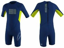 O'Neill Toddlers Boys Childrens Kids 2mm Reactor Blue Shortie Surf Swim Wetsuit