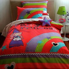 Cubby House Kids Fairy Princess Applique Quilt Doona Cover Set - SINGLE DOUBLE