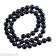 Wholesale Blue Sand Stone Round Loose Beads 8mm Dia. 36cm long