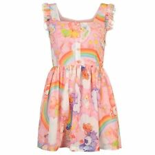 Iron Fist Womens Care Bear Dress Scoop Neck Sleeveless Printed Casual Ladies Top