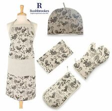 Rushbrookes Vintage Roosters Chickens Tea Cosy, Oven Glove, Gauntlet or Apron