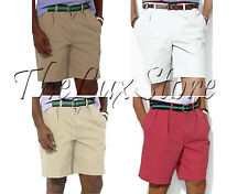 Polo Ralph Lauren Mens Pony Logo Pleated Front Tyler Vintage Chino Shorts New