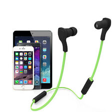 Stereo Mic Earphone Bluetooth Wireless Headphone Headset For iPhone Samsung LG
