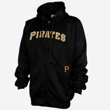 Pittsburgh Pirates Full Zip Hoodie Therma Base Delay Plus Size Double Logo MLB
