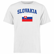 Slovakia Flag T-Shirt - White - Country Flags