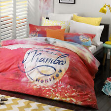 Sunset Pink Quilt Doona Duvet Cover Set by Mambo - SINGLE DOUBLE QUEEN