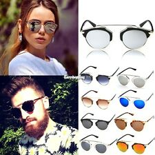 Fashion Mens Womens UV400 Sunglasses Vintage Style Retro Classic Eyewear ES9P