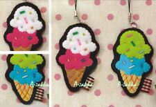 DIY Do it yourself handmade Crafts Sewing Kit Cell Phone Strap Pendent Ice-Cream