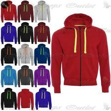 Mens Fleece Zipper Hooded Hoodie Casual Zipup Sweatshirt Jacket Jumper Top Hoody
