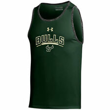 South Florida Bulls Under Armour Tech Tank Top - Charcoal/Green - College