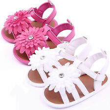 Baby Boys Girls Infant Toddler Flower Crib Shoes Summer Casual Sandals Slippers