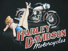 nwt Mens HARLEY DAVIDSON *Feet Up* Pin Up Black  Tee Shirt