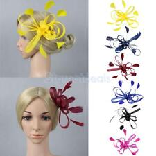 Ladies Day Races Wedding Royal Ascot Feather Fascinator Hair Clip Headpiece