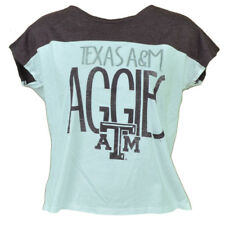 NCAA Texas A&M Aggies Gig Em Womens Ladies Tshirt Tee Crew Neck White Sports