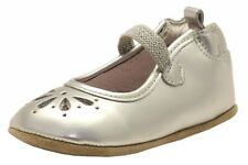 Robeez Mini Shoez Infant Girl's Nora Fashion Silver Leather Mary Janes Shoes