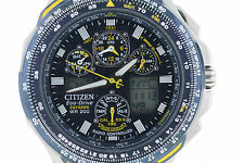 Men's Citizen JY0040-59L Eco-Drive Blue Angels Skyhawk Stainless Steel Watch