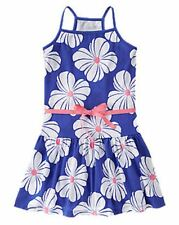 NWT Gymboree Girls Hop N Roll Blue Floral Dress Size 5 6 7 8 10 & 12