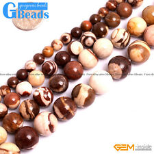 "Natural Brown Zebra Jasper Gemstone Round Beads Free Shipping 15"" 6mm 8mm 10mm"