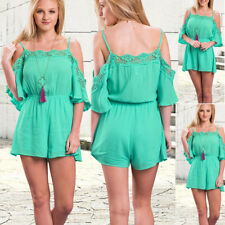 Sexy Women's Solid Playsuit Jumpsuit Romper Short Beach Dress Bodycon Playsuit