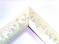 Small Off-White Victorian Wood Ornate Picture Frame-Custom Made Panoramic