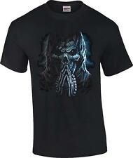 Praying Reaper Skull Death Goth Punk T-Shirt Tee