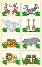 Safari Nursery Prints Wall Art Baby Boy Girl Jungle Animals Noahs Ark Gift Decor